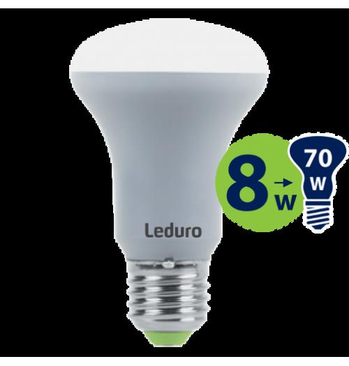 Lemputė LEDURO LED E27 R63 8W 3000K