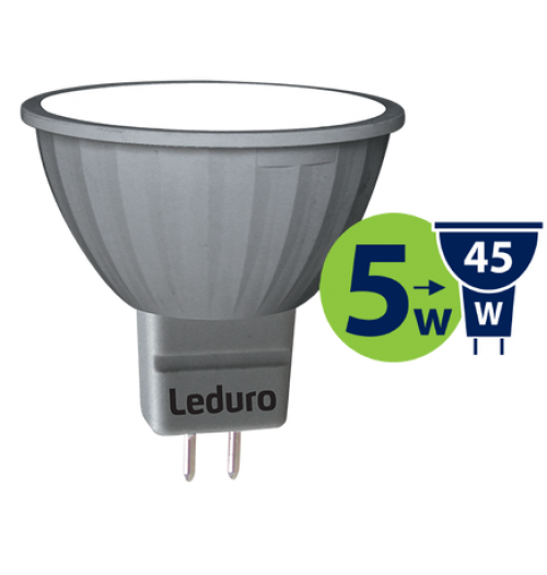 Lemputė LEDURO LED MR16 PAR16 12V 5W 3000K