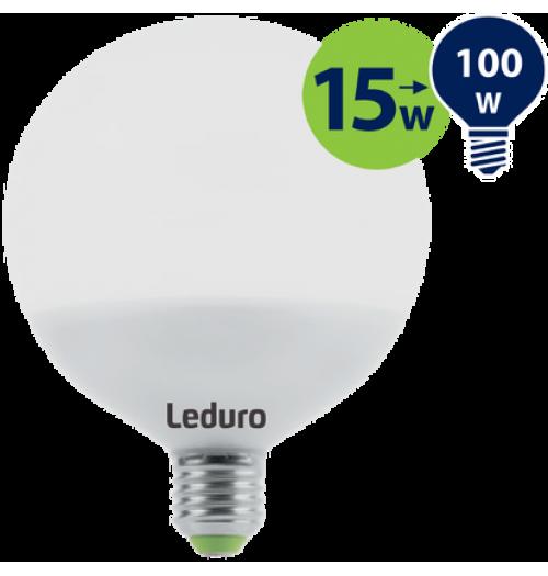 Lemputė LEDURO LED E27 G120 15W 3000K