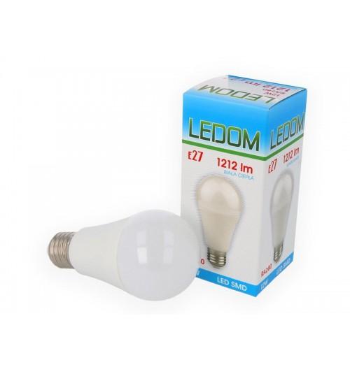 Lemputė LED LEDOM E27 A60 12W 3000K 1212lm