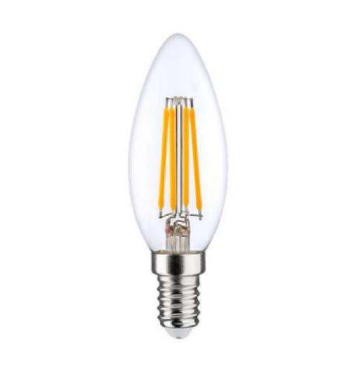 Lemputė LEDURO LED FILAMENT skaidri E14 C35 6W 3000K 810lm