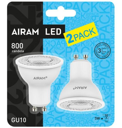 Lemputė AIRAM LED GU10 5W 2800K 2PACK