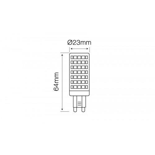 Lemputė LEDLINE LED G9 12W 4000K 1080lm