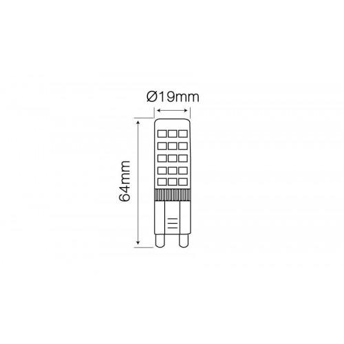 Lemputė LEDLINE LED G9 8W 4000K 750lm