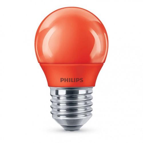 Lemputė LED E27 G45 3.1W raudona Philips