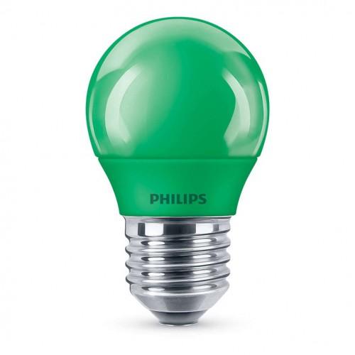 Lemputė LED E27 G45 3.1W žalia Philips