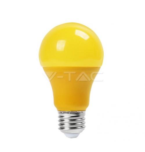 Lemputė V-TAC LED E27 A60 9W geltona