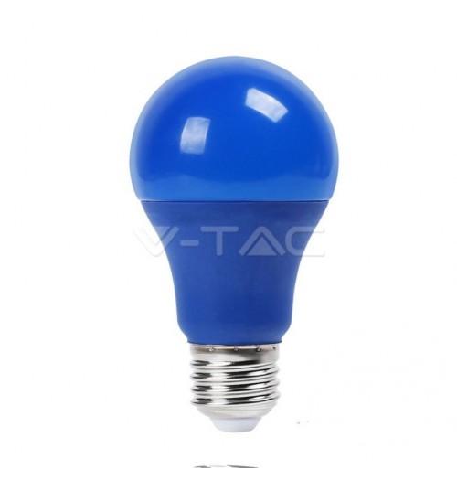 Lemputė V-TAC LED E27 A60 9W mėlyna