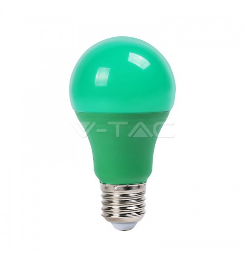 Lemputė V-TAC LED E27 A60 9W žalia