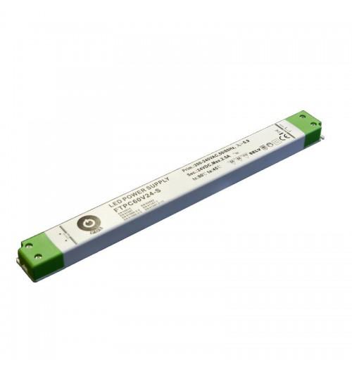 Maitinimo šaltinis SLIM FTPC-60-12S 12V 5A IP20 POS