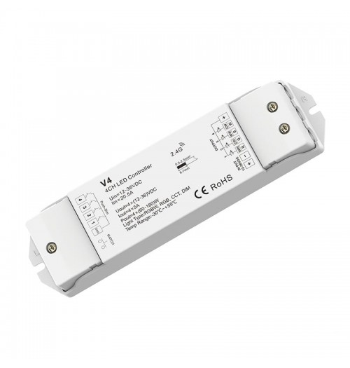 Valdiklis-imtuvas SKYDANCE V4 RGBW 12-36V DC 4x5A