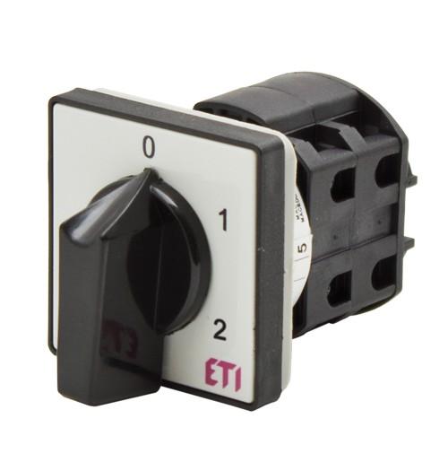 3 padėčių perjungiklis panelinis (0-1-2) ETI 3P 16A