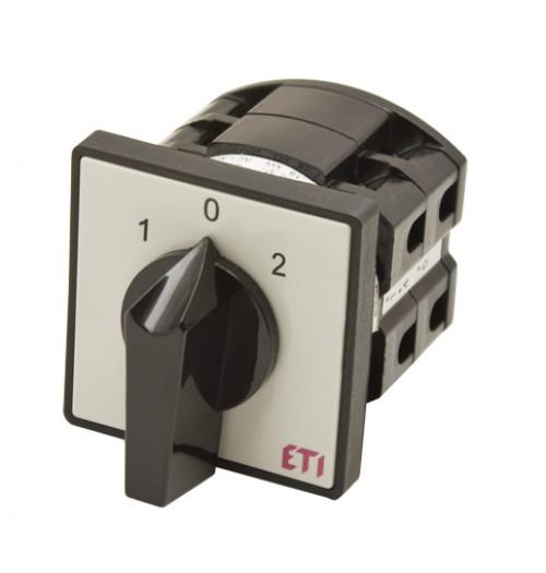 3 padėčių perjungiklis panelinis (1-0-2) ETI 3P 16A