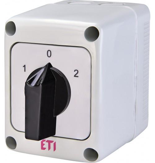 3 padėčių perjungiklis dėžutėje (1-0-2) ETI 3P 16A