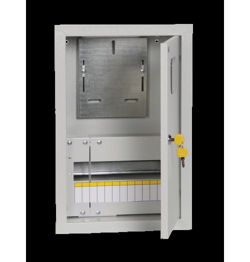 Metalinis įleidžiamas paskirstymo skydelis su vieta 1F skaitikliui IEK ŠURV 12 mod. IP31