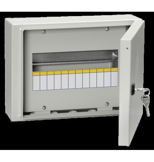 Metalinis paviršinis paskirstymo skydelis IEK ŠRN 12 mod. IP54