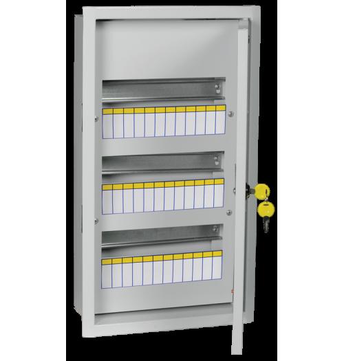 Metalinis įleidžiamas paskirstymo skydelis IEK ŠRV 36 mod. IP31