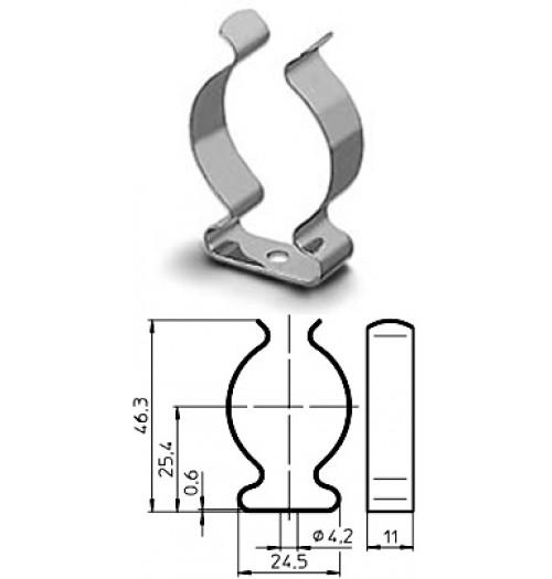 Metalinis lempos laikiklis T8 VOSSLOH-SCHWABE
