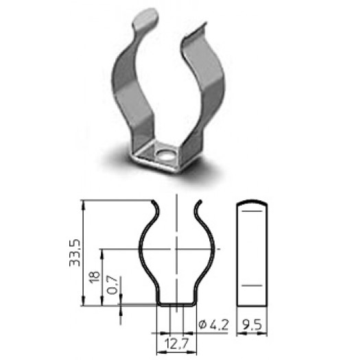 Metalinis lempos laikiklis T5 VOSSLOH-SCHWABE