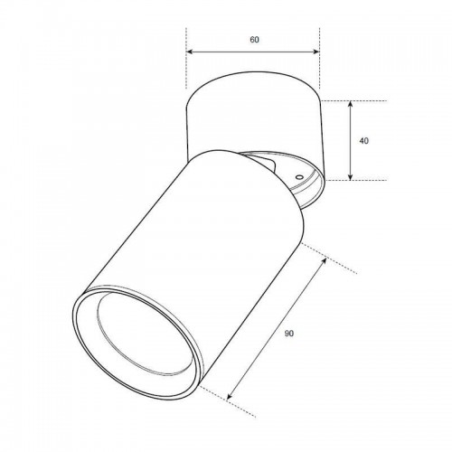 Akcentinis šviestuvas MIRAGE 1xGU10, baltas, pakreipiamas