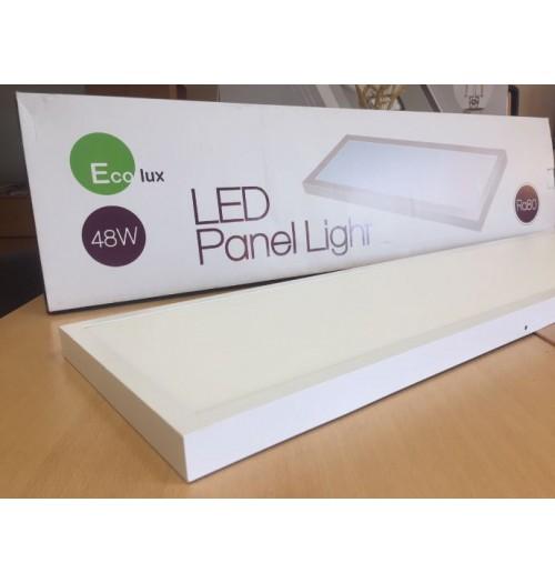 Virštinkinio montavimo LED biuro šviestuvas Ecolux 1200x300mm 48W 4000K 4200lm