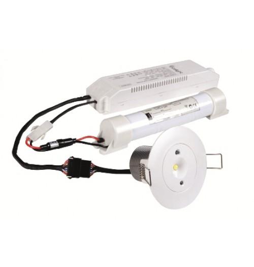 Evakuacinių kelių apšvietimo šviestuvas Intelight Starlet White SO 5W NM 3H MT