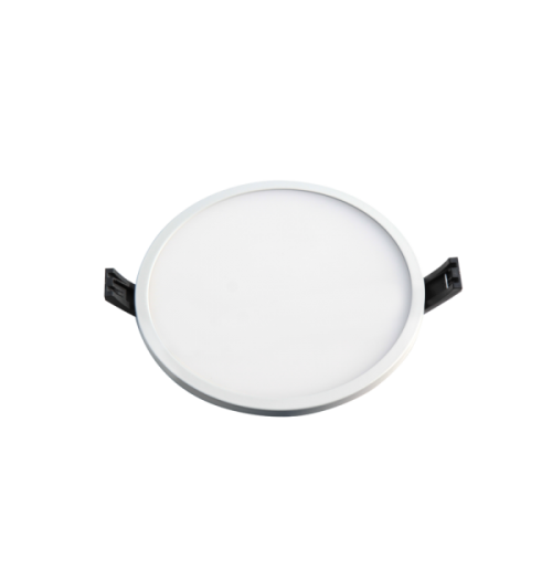 LED panelė LPSR 24W 3000K IP44 įleidžiama apvali (baltos sp. rėmelis)