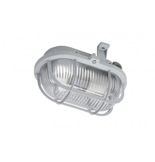 Buitinis šviestuvas LENA OVAL (pilkos sp. grotelės) 1xE27 IP44