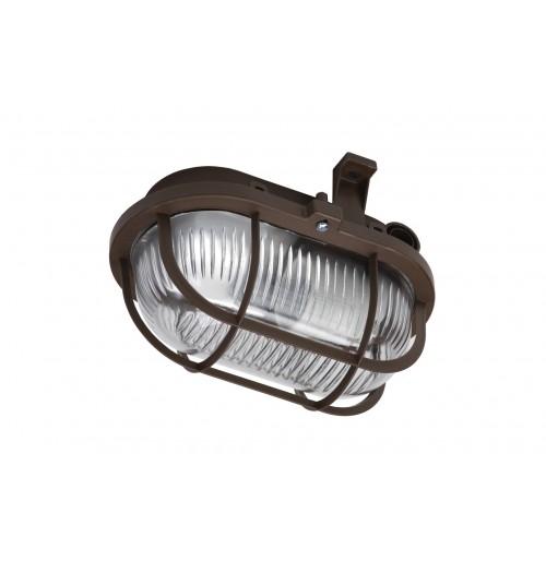 Buitinis šviestuvas LENA OVAL (rudos sp. grotelės) 1xE27 IP44