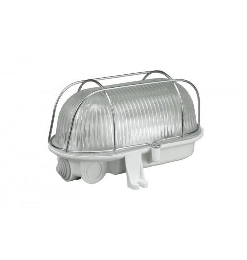 Buitinis šviestuvas Pawbol D.3152 OVAL 100 (metalinės grotelės) 1xE27 IP44