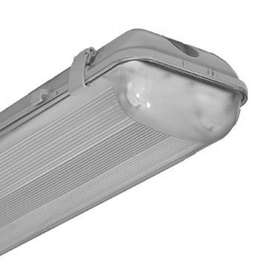 Hermetinis korpusas T8 LED lempoms 2x600mm IP65